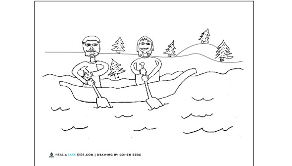 coloring pages on lake - photo#8
